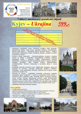 Kyjev – Ukrajina 599,-