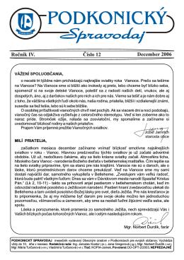 Spravodaj 12 / 2006