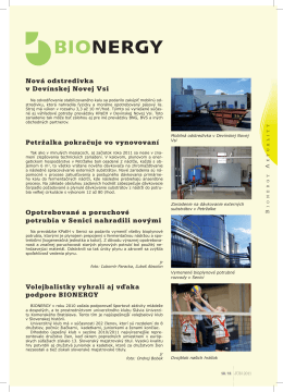 BVSvet – štvrťročník BVS, a. s. 2/2011