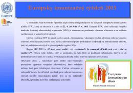 Európsky imunizačný týždeň 2013 (pdf, 136 kB)