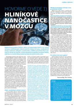 Hliníkové nanočastice v mozgu