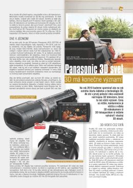 Panasonic 3D svet