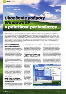 Ukončenie podpory Windows XP = príležitosť pre hackerov