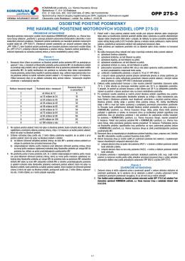 OPP 275-3 - Komunálna poisťovňa