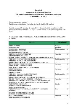 Protokol zo zasadnutia výberovej komisie 20