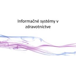 Informačné systémy v zdravotníctve