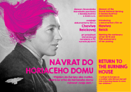 NÁVRAT DO HORIACEHO DOMU - Remember the Women Institute