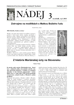 NADEJ 03013.pdf - Farnosť svätého Štefana, Šurany