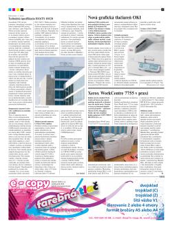 Nová grafická tlačiareň OKI Xerox WorkCentre 7755 v praxi