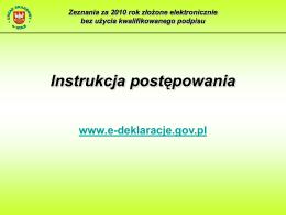 Instrukcja obsługi Ankiety GFP 2015