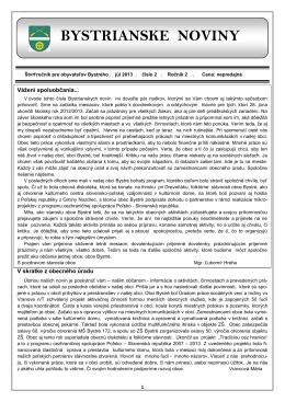 Bystrianske noviny č. 2/2013