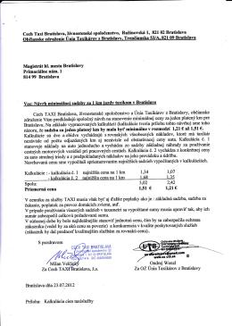 otvor - Únia Taxikárov z Bratislavy oz