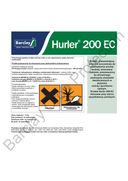 Hudson® 200 EC Label