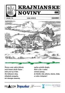 Krajnianske noviny číslo 4 (PDF – 2,5 MB)