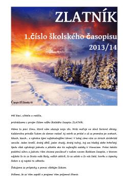 ZLATNÍK 1.číslo školského časopisu 2013/14