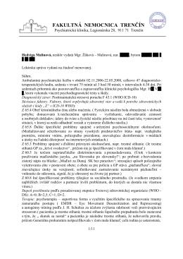 Lekárska správa Jozefa Hašta