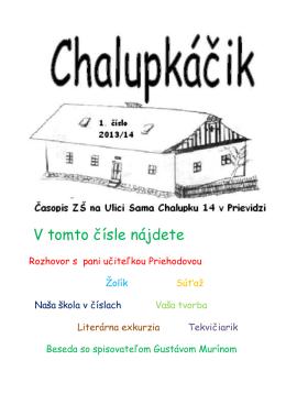 1. číslo Chalupkáčika r. 2013/2014