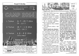 Týždenník Gréckokatolíckej farnosti Trebišov Cena 40 Bližšie info na