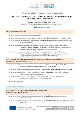 Organizacja zajęć w dniu 14 października 2013 roku – Dniu