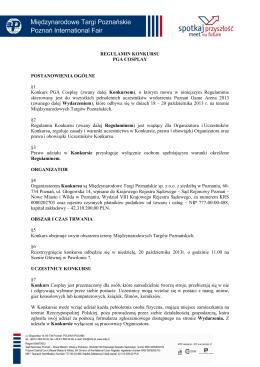 "REGULAMIN KONKURSU ""Wybory Miss Lata Nad Zalewem 2013"""