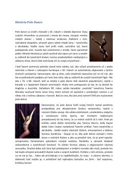 História Pole Dance - Pole Dance Academy