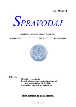 SPRAVODAJ - Združenie vojenskej obrody Slovenska