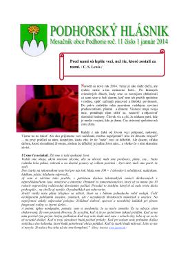 hlasnik-1-2014 - Obec Podhorie