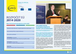 Rozpočet eÚ 2014-2020