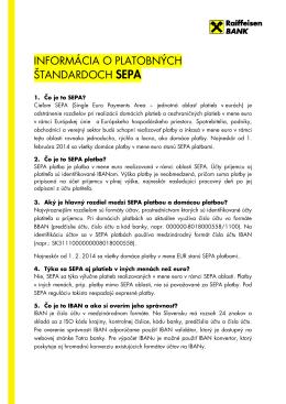 Platobné štandardy SEPA