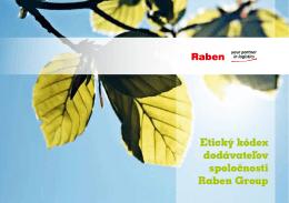Etický kódex dodávateľov spoločnosti Raben Group
