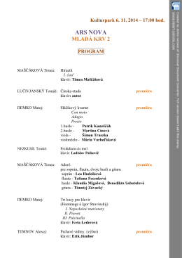 ARS NOVA 2014.pdf - Konzervatórium Timonova 2, Košice.
