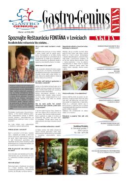 Spoznajte Reštauráciu FONTÁNA v Leviciach - Matusz-Vad