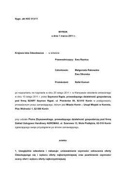 1 Sygn. akt: KIO 1260/12 WYROK z dnia 26 czerwca 2012 r