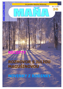 24.12.2012 94ks - Rodinný časopis MAŇA