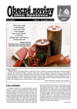 Obecné noviny - december 2010