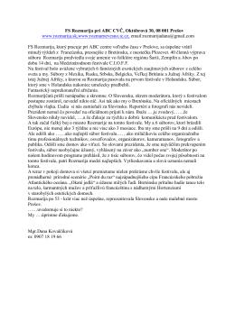 FS Rozmarija pri ABC CVČ, Októbrová 30,0801