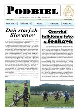 2011-3 - Obec Podbiel