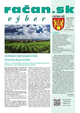 račan.sk výber 1/2014