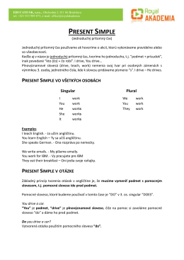 Present simple - PDF
