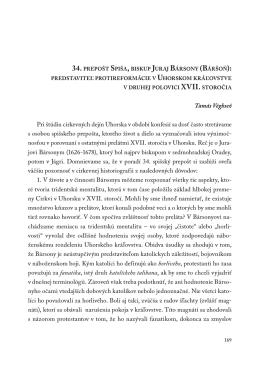 Tamás Véghseő Pri štúdiu cirkevných dejín Uhorska v období