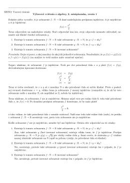 MENO: Vzorové riešenie Výberové cvičenia z algebry, 2