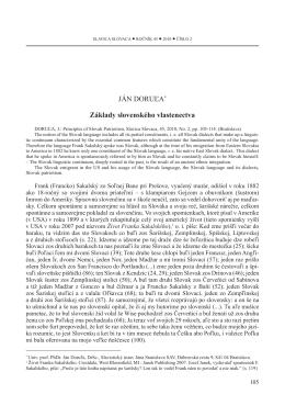 Základy slovenského vlastenectva. SLAVICA SLOVACA