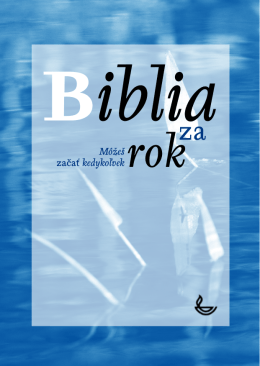 Biblia za rok - Scripture Union Slovakia