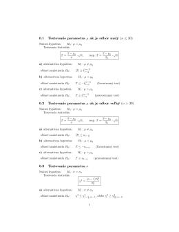 º Testovanie hypotéz