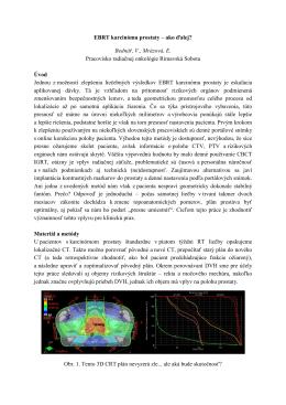 abstrakt tu - Pracovisko radiačnej onkológie Rimavská Sobota