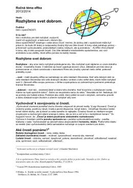 Vyhlásenie ročnej témy eRka 2013/2014