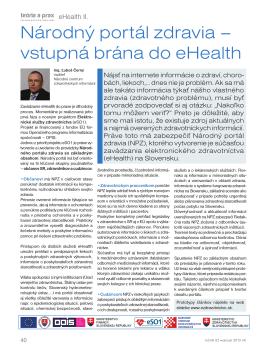 Národný portál zdravia – vstupná brána do eHealth
