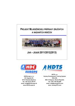 Projektu - Hokejový trenažér | hdcslovakia.com