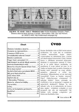 Flash, máj, šk.rok 2013/2014 - SOŠ obchodu a služieb
