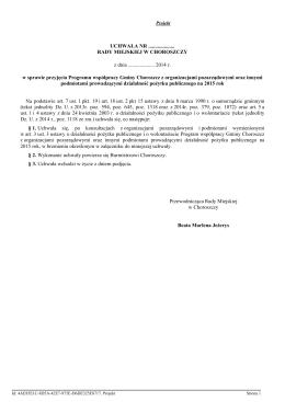 Regulamin na dotację aktualnie obowiązujący